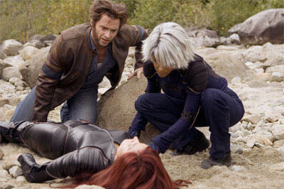 Wolverine (Hugh Jackman) and Storm (Halle Berry) make an amazing discovery at Alkali Lake: Jean Grey (Famke Janssen), whom they thought had perished.