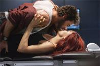 Passions run high between Wolverine (Hugh Jackman) and Jean Grey (Famke Janssen).