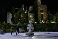 Against the backdrop of Xavier's School for the Gifted, Kitty (Ellen Page) and Iceman (Shawn Ashmore) enjoy an impromptu ice skating session.