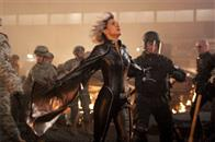 Storm (Halle Berry) prepares to utilize her special abilities during an epic battle.