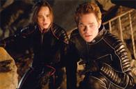 Kitty Pryde (Ellen Page) and Iceman (Shawn Ashmore) plan their next move.