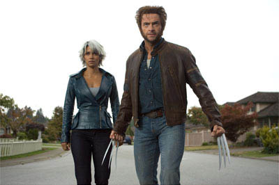 Storm (Halle Berry) and Wolverine (Hugh Jackman) prepare for battle.