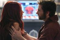 Wolverine (Hugh Jackman) and Jean Grey (Famke Janssen) have an emotional reunion.