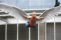 Angel (Ben Foster) takes flight.