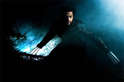 Hugh Jackman portrays Wolverine, a solitary fighting machine who possesses amazing healing powers, retractable adamantium claws and an animal-like fury.  - Large