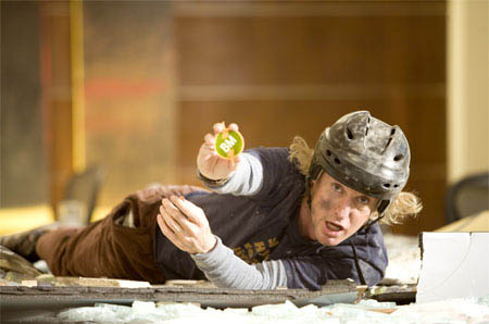 """Dupree (OWEN WILSON) comes crashing through the ceiling with his Best Man pin in the comedy """"You, Me and Dupree"""".  - Large"""