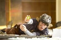 "Dupree (OWEN WILSON) comes crashing through the ceiling with his Best Man pin in the comedy ""You, Me and Dupree""."