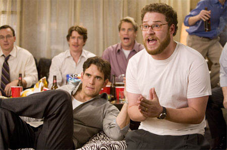 """(L to R, foreground) Carl (MATT DILLON) and his buddy Neil (SETH ROGEN) have a guys' night in the comedy """"You, Me and Dupree"""".  - Large"""