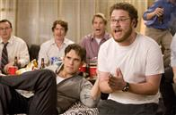 "(L to R, foreground) Carl (MATT DILLON) and his buddy Neil (SETH ROGEN) have a guys' night in the comedy ""You, Me and Dupree""."