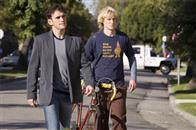 "(L to R) Carl (MATT DILLON) and his permanent houseguest Dupree (OWEN WILSON) stroll the neighborhood in the comedy ""You, Me and Dupree""."