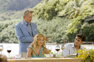 """Doting father Mr. Thompson (MICHAEL DOUGLAS) toasts his daughter Molly (KATE HUDSON) and new son-in-law/employee Carl (MATT DILLON) in the comedy """"You, Me and Dupree"""".  - Large"""