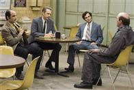 "Sgt. Jack Mulanax (ELIAS KOTEAS, left), Inspector Bill Armstrong (ANTHONY EDWARDS, center) and Inspector Dave Toschi (MARK RUFFALO) talk about a serial killer with Arthur Leigh Allen (JOHN CARROLL LYNCH) in Paramount Pictures and Warner Bros. Pictures' thriller ""Zodiac."""