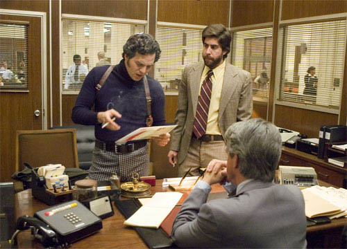 "Inspector Dave Toschi (MARK RUFFALO, left) confers with Duffy Jennings (ADAM GOLDBERG, right) about the case of a serial killer in Paramount Pictures and Warner Bros. Pictures' thriller ""Zodiac.""  - Large"