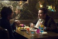 "Paul Avery (ROBERT DOWNEY JR., left) and Robert Graysmith (JAKE GYLLENHAAL, right) meet to discuss the clues and symbols left by a serial killer in Paramount Pictures and Warner Bros. Pictures' thriller ""Zodiac."""